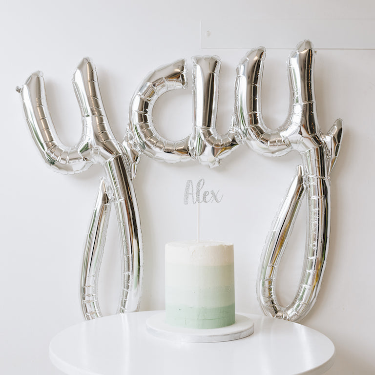 'YAY' FOIL BALLOON | SILVER OR GOLD