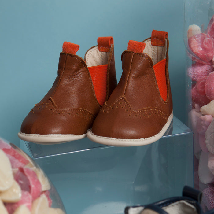 ARCHIE LEATHER CHELSEA BOOTS FOR BABIES