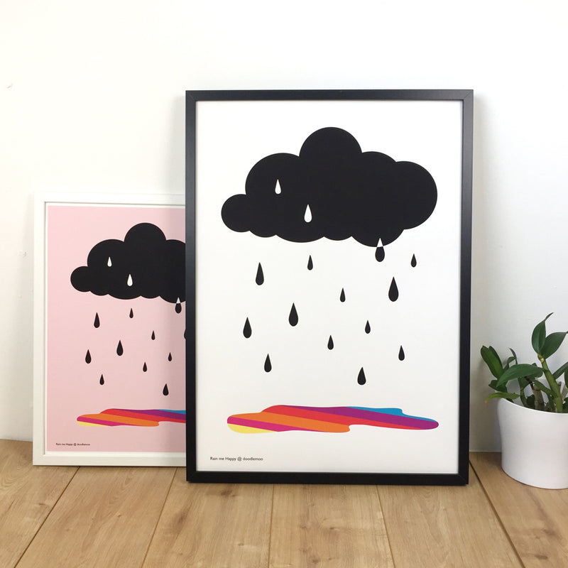 CLOUD AND RAIN; 'RAIN ME HAPPY' PRINT/POSTER