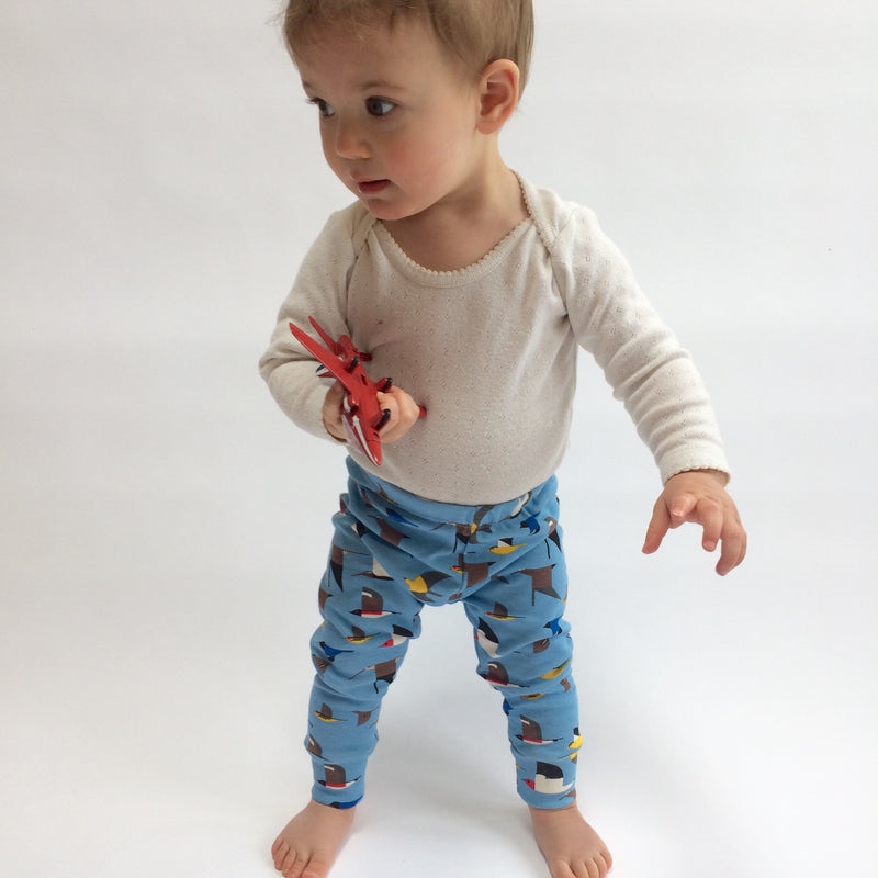 Organic cotton Maritime Birds leggings