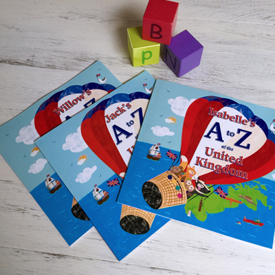 PERSONALISED A to Z OF THE UK SOFT BACK BOOK
