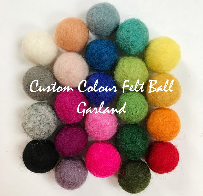 FELT BALL GARLAND - CUSTOM COLOUR