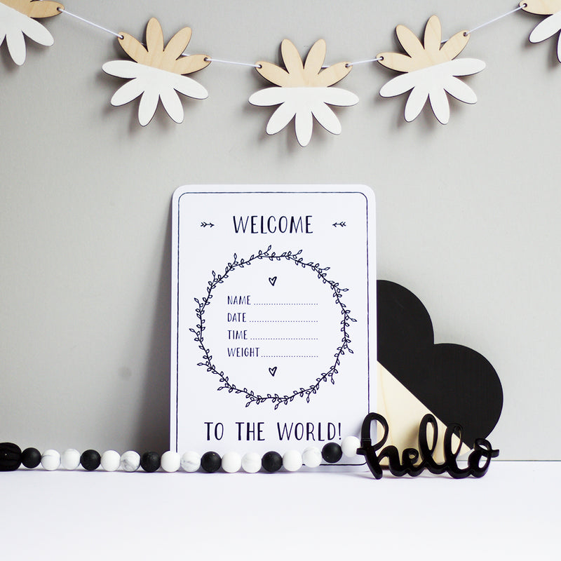 PREGNANCY MILESTONE CARDS - MONOCHROME