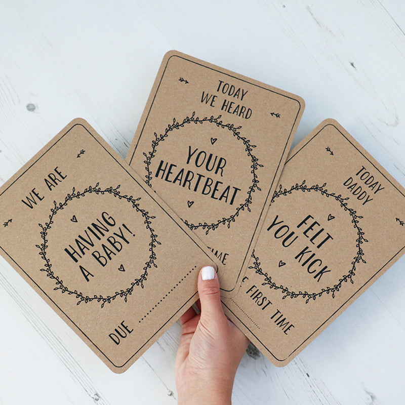 PREGNANCY MILESTONE CARDS - RUSTIC KRAFT