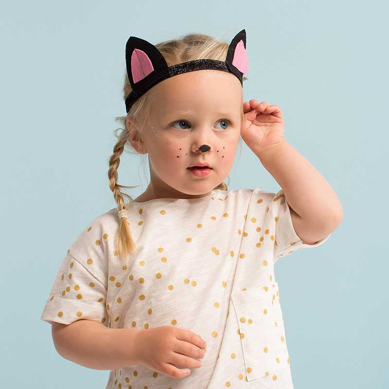 CAT EARS AND TAIL DRESSING UP KIT