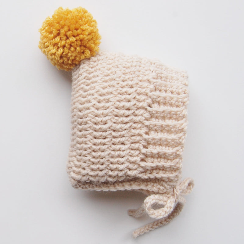 BABY BONNET WITH POM POM