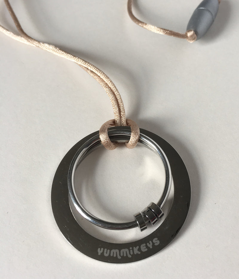 ENGRAVED STAINLESS STEEL FEEDING NECKLACE