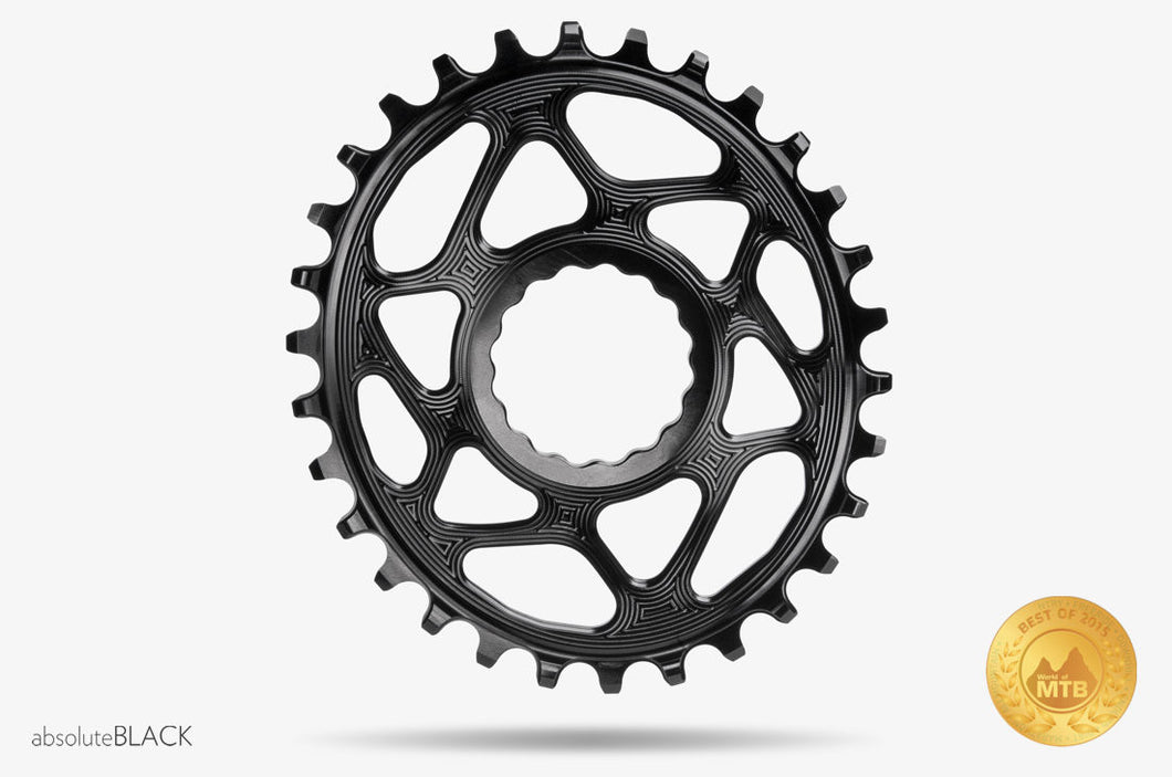 ABSOLUTE BLACK RACE FACE OVAL CINCH TRACTION CHAINRING
