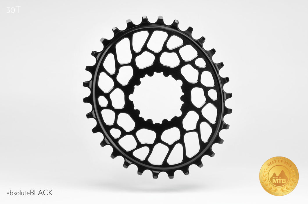 ABSOLUTE BLACK SRAM OVAL BB30 TRACTION CHAINRING