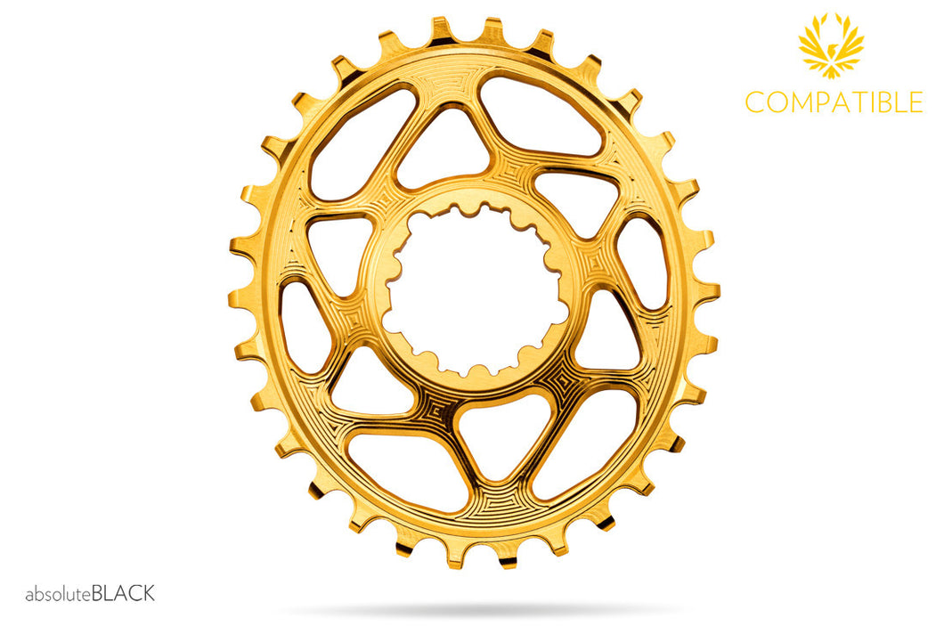 ABSOLUTE BLACK SRAM OVAL GXP® TRACTION CHAINRING