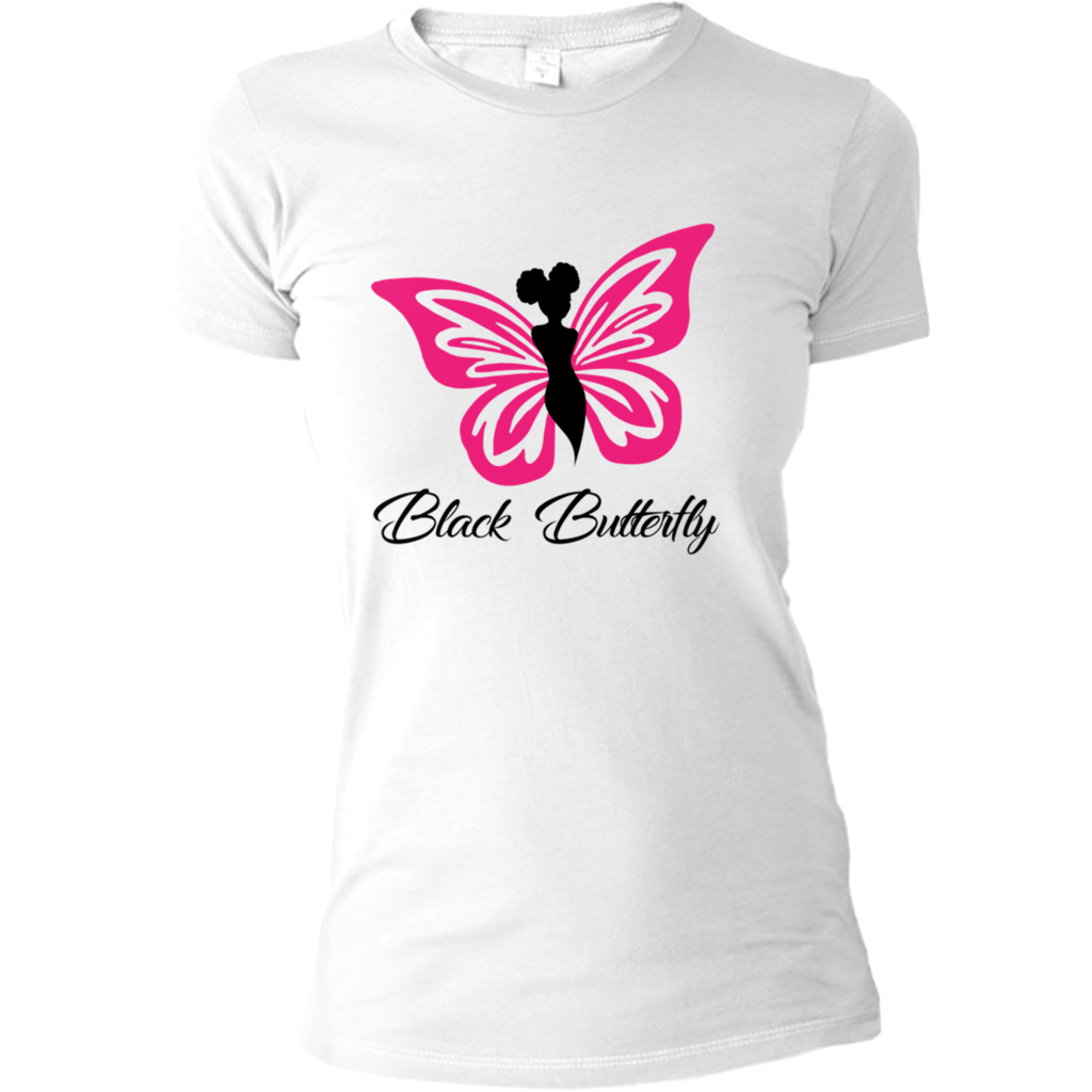 Black Butterfly Signature Fitted Tee