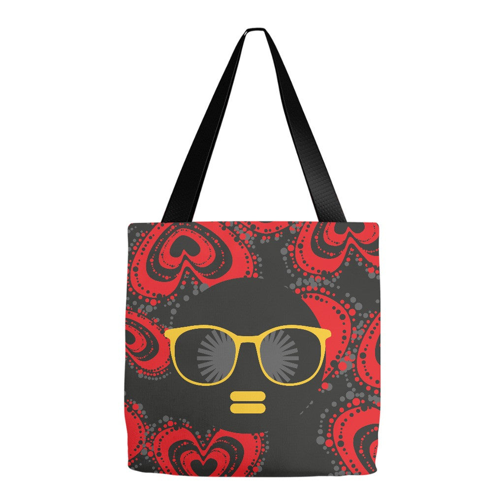 Melanated FLY Tote Bag - Black Butterfly Beautiful