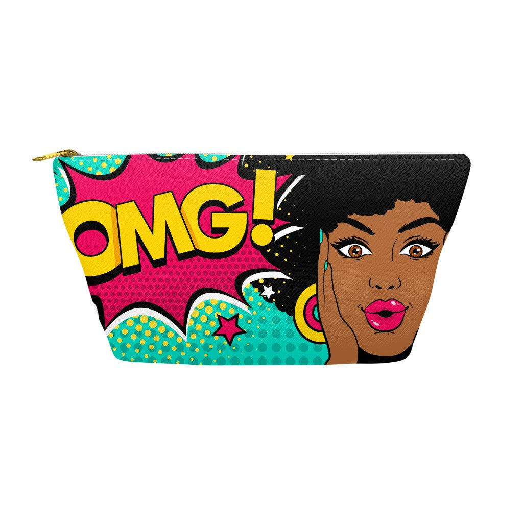 OMG Afro Accessory Pouches - Black Butterfly Beautiful