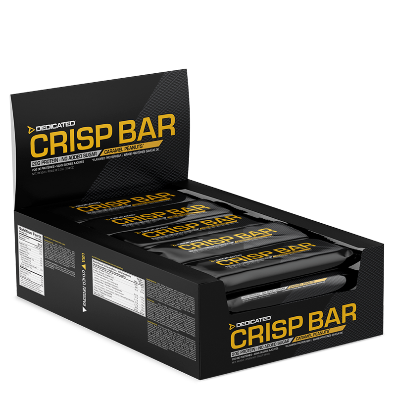Dedicated Crisp Bar Caramel Peanuts box