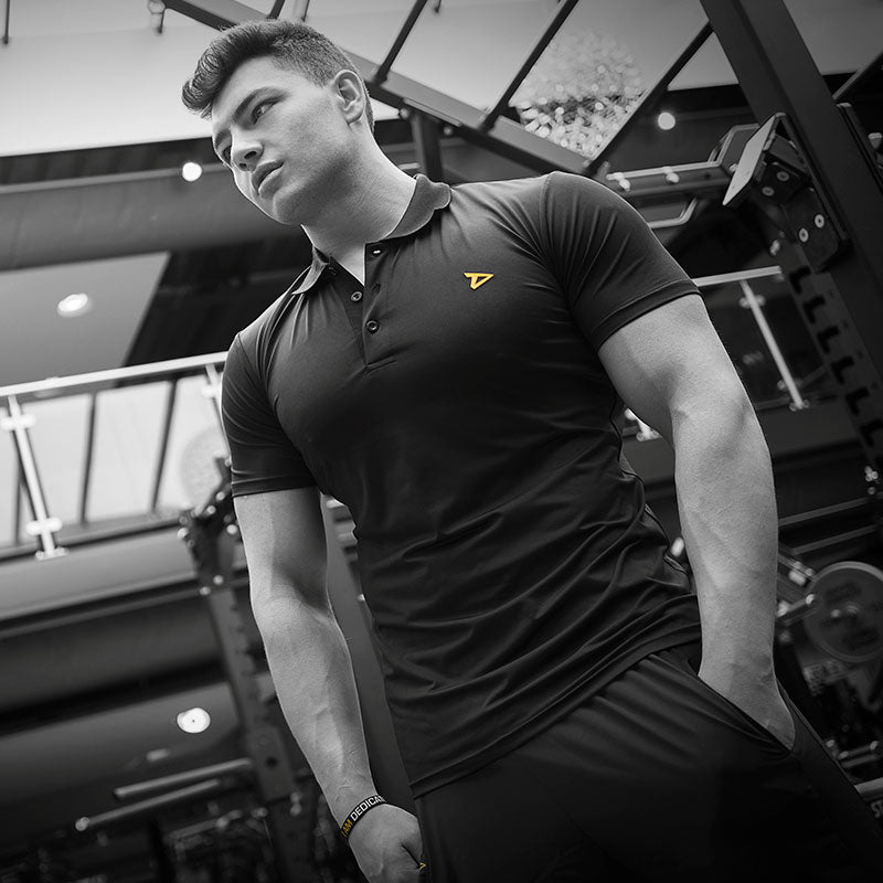 Dedicated Nutrition Dry-Fit Black Polo