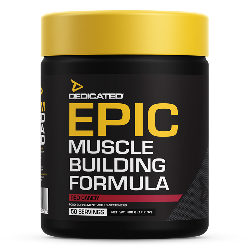 Dedicated EPIC 50 servings Red Candy flavour