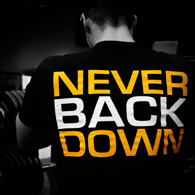 Never Back Down Shirt Dedicated model