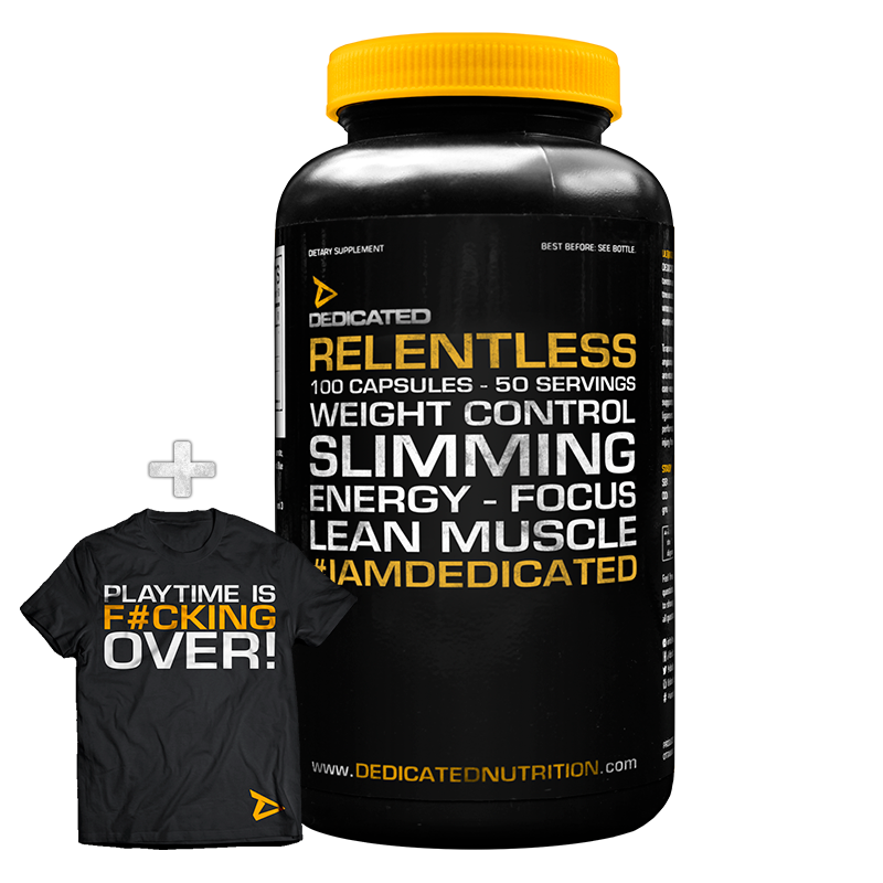 Dedicated Relentless with free T-Shirt