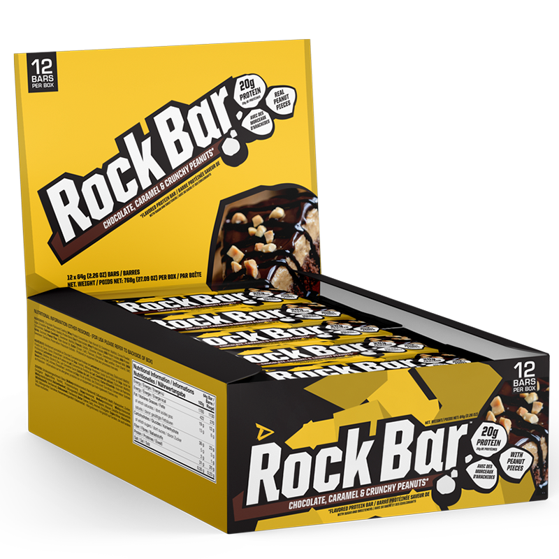 Dedicated Rock Bar Chocolate, Caramel & Crunchy Peanuts box