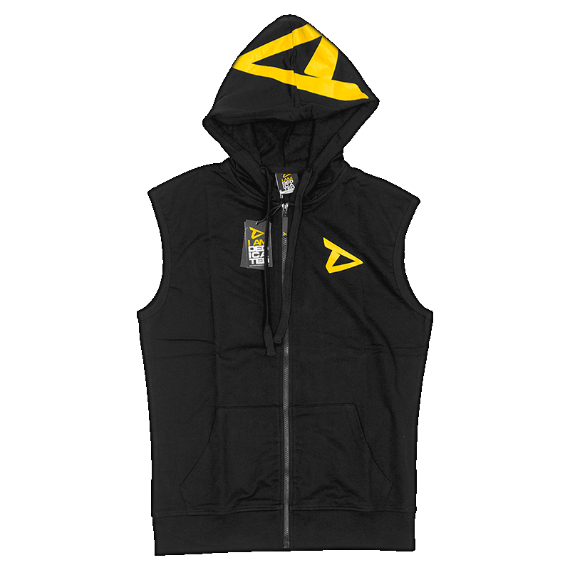 Sleeveless Hoodie with Dedicated logo on chest