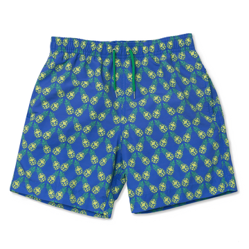 Geo-Tilted Pineapple Swim Shorts - BUNKS | Swimming Shorts For Boys & Men
