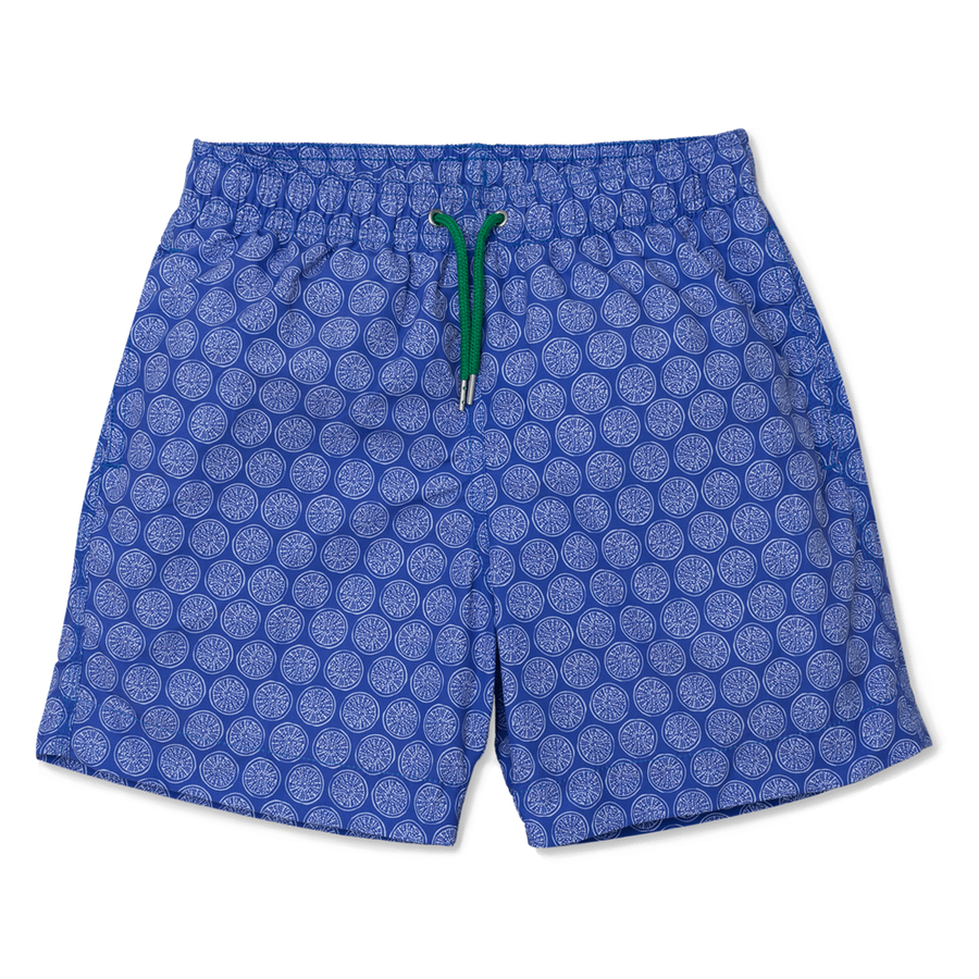 Sea Urchin Swim Shorts - Blue/White freeshipping - BUNKS | Swimming Shorts For Boys & Men