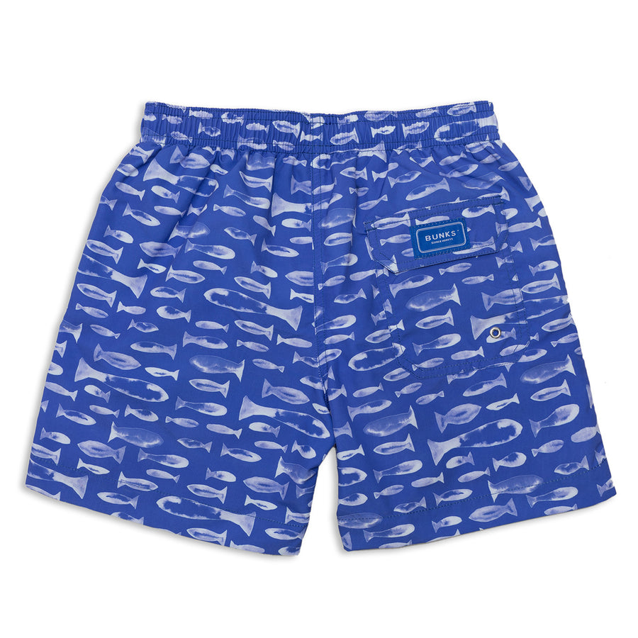 Inky Fish Swim Shorts - BUNKS | Swimming Shorts For Boys & Men