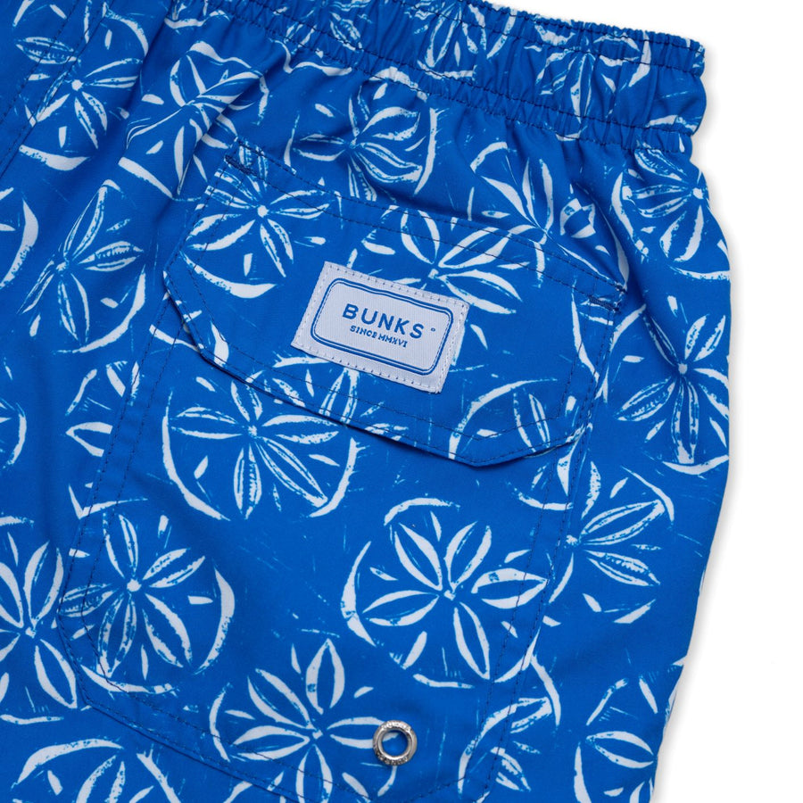 Sand Dollar Swim Shorts - Green Cord - BUNKS | Swimming Shorts For Boys & Men
