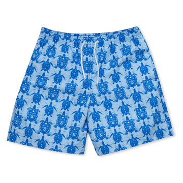 Tortoise & Turtle Swim Shorts - Blue freeshipping - BUNKS | Swimming Shorts For Boys & Men