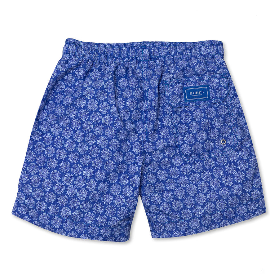 Sea Urchin Swim Shorts - Blue/White - BUNKS | Swimming Shorts For Boys & Men