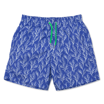 Seaweed Swim Shorts - Blue/White - BUNKS | Swimming Shorts For Boys & Men