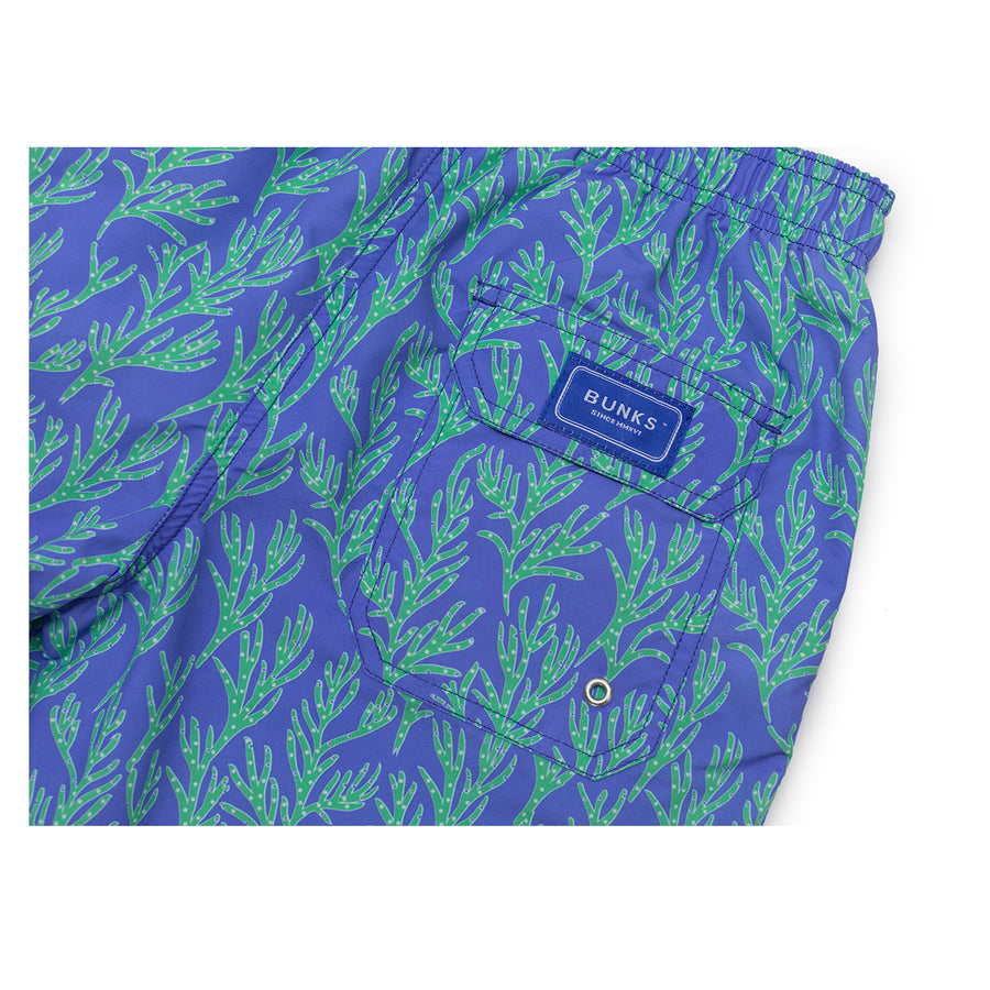 Seaweed Swim Shorts - Blue/Green - BUNKS | Swimming Shorts For Boys & Men