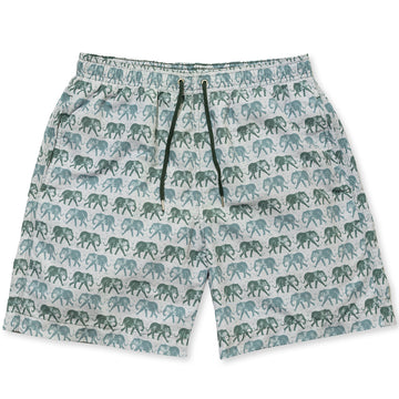 Elephants Swim Shorts - Olive freeshipping - BUNKS | Swimming Shorts For Boys & Men