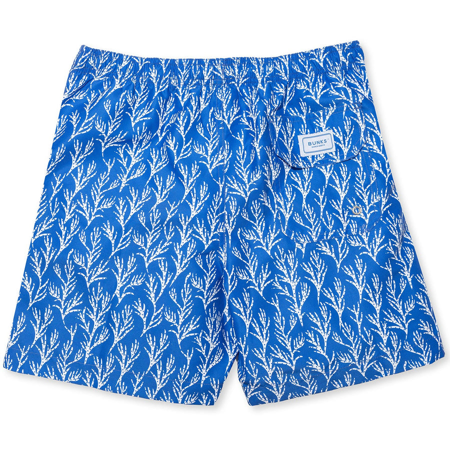 Seaweed Swim Shorts - Blue/White freeshipping - BUNKS | Swimming Shorts For Boys & Men