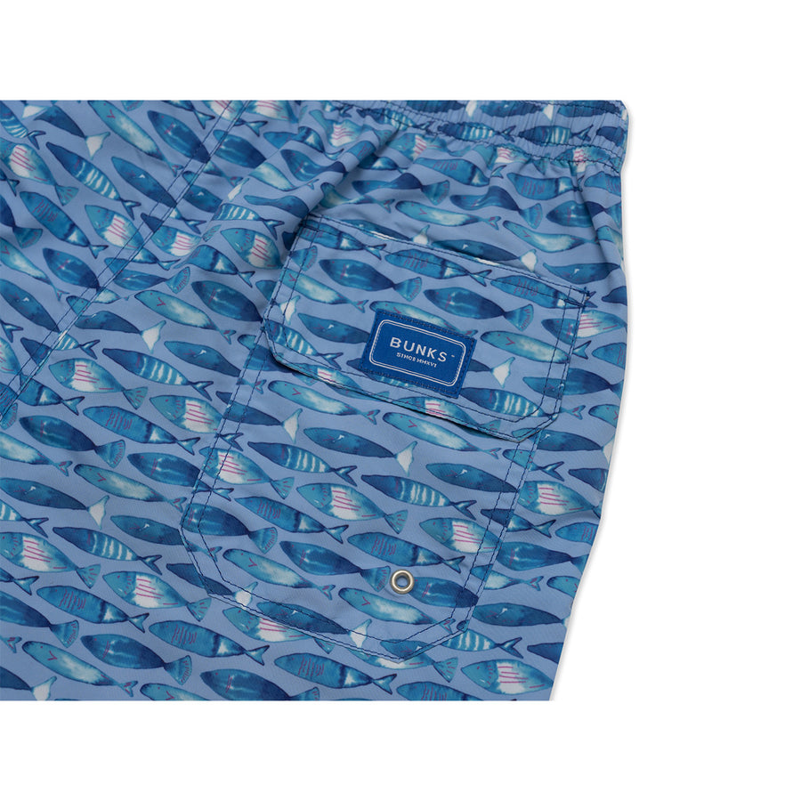 Swimming Fish Swim Shorts - Blue freeshipping - BUNKS | Swimming Shorts For Boys & Men