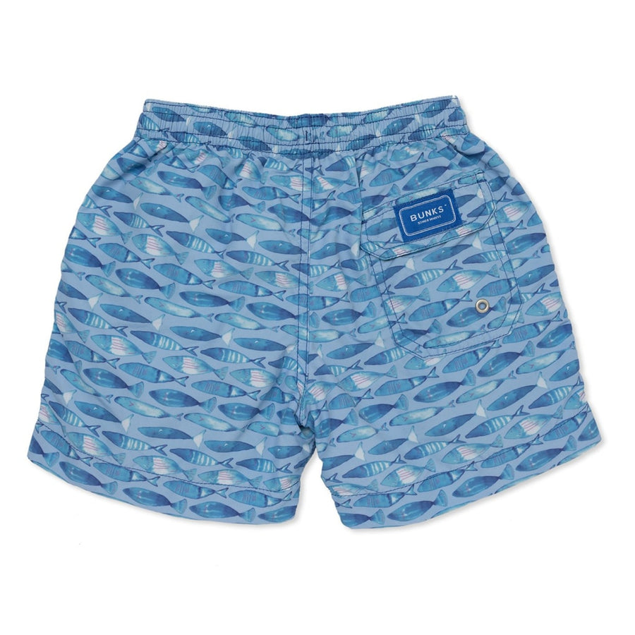 Swimming Fish Swim Shorts - Blue - BUNKS | Swimming Shorts For Boys & Men