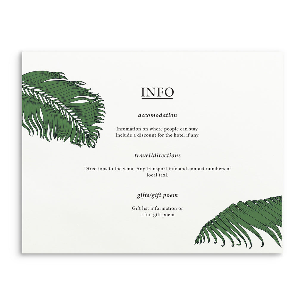 Botanical Information Card