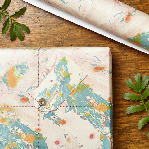 Marbled Capian Gift Wrap Set