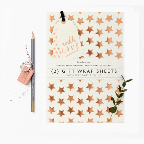 Copper Foil Star Wrap Set