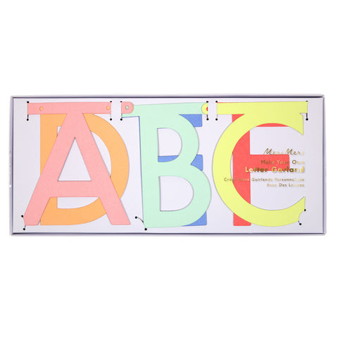 Letter Garland Multi Colour
