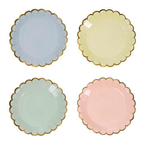 Pastel Canape Plates (Pack of 8)