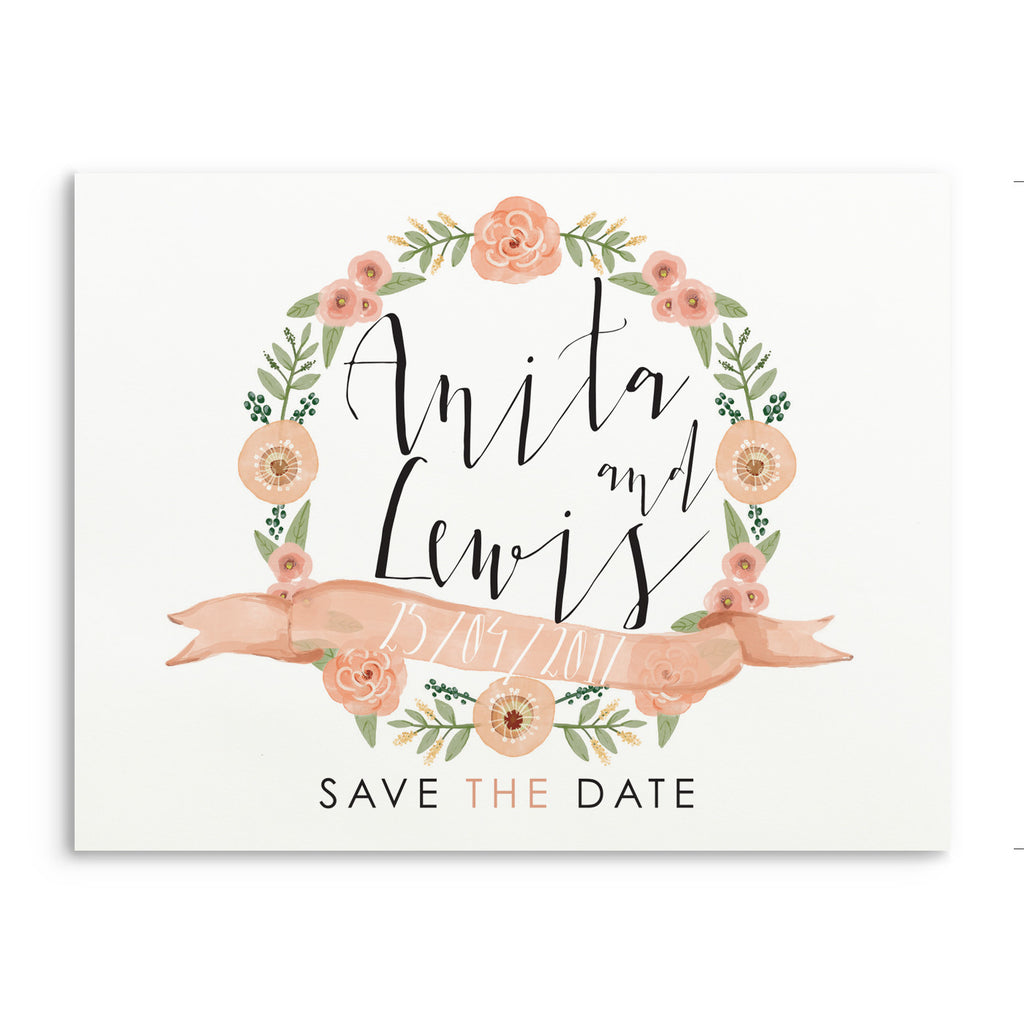 Peachy Posie Save The Date