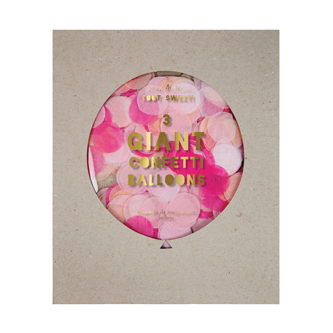 Giant Confetti Balloons Pink