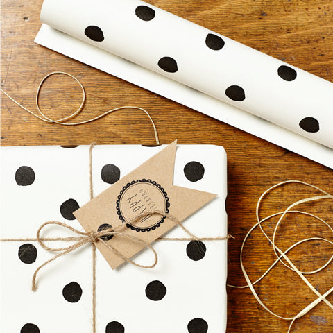 Painted B&W Polka Wrap Set