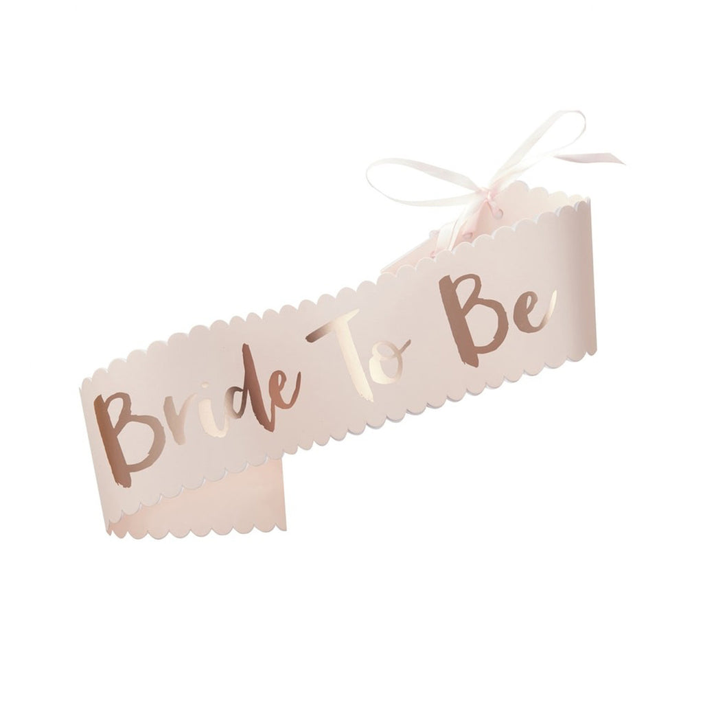 Pink & Rose Gold Bride To Be Sash (Pack of 1)