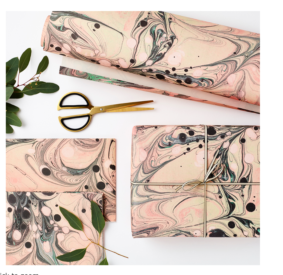 Luxury Marble Tourmaline Wrapping Paper