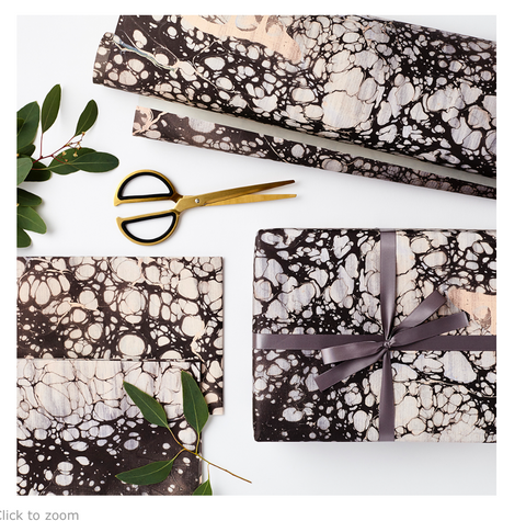 Luxury Marble Carbon Wrapping Paper
