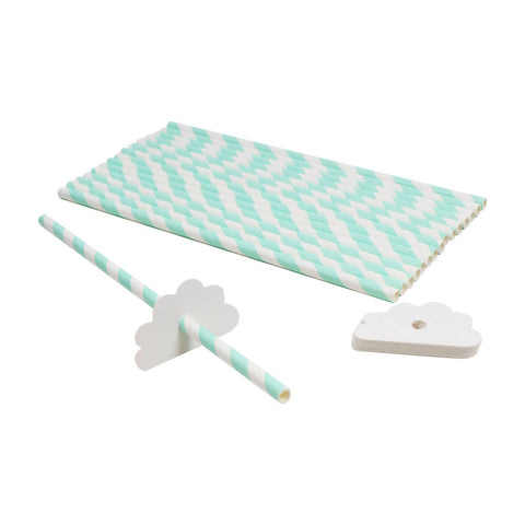 Cloud Paper Straws (Pack of 16)