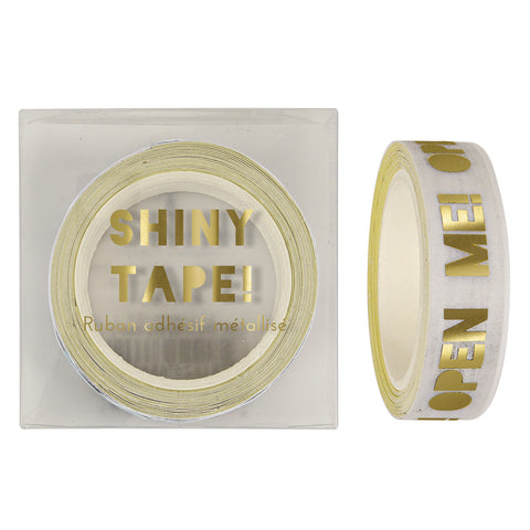 "Gold Foil ""Open Me"" Tape"