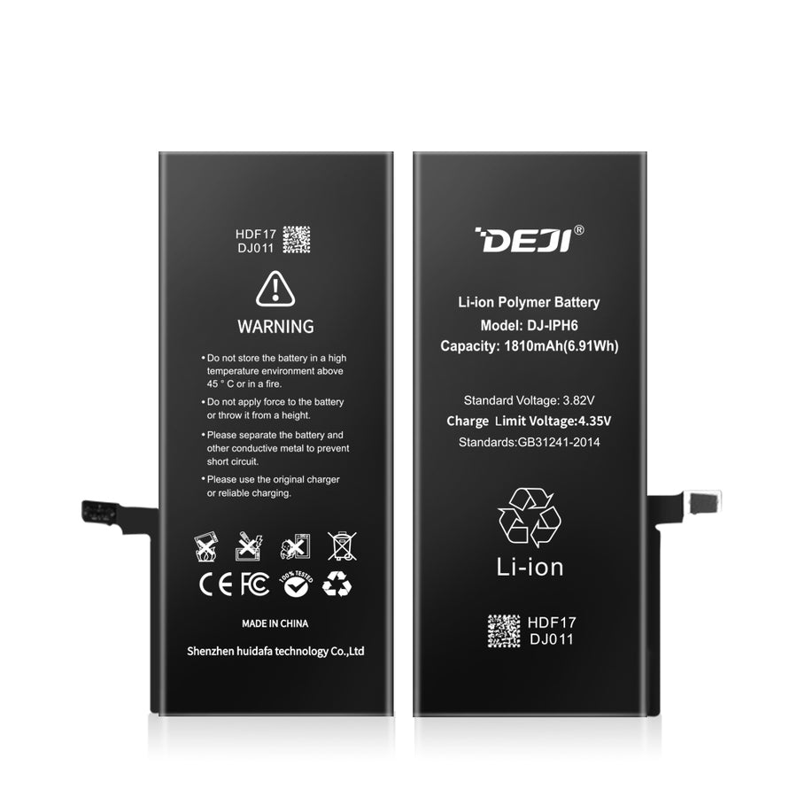 iPhone 6 Li-ion Polymer Battery Replacement 1810mAh (6.91Wh) Capacity